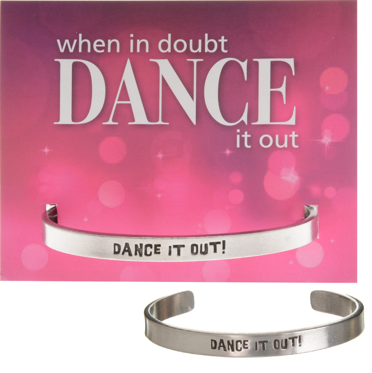 Dance it Out Quotable Cuff - Whitney Howard Designs