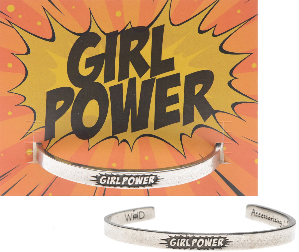 Girl Power Cuff - Pewter Bracelet by Quotable Cuffs - Whitney Howard Designs