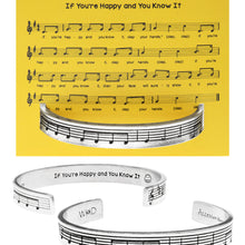 If You're Happy and You Know It Quotable Cuff Bracelet