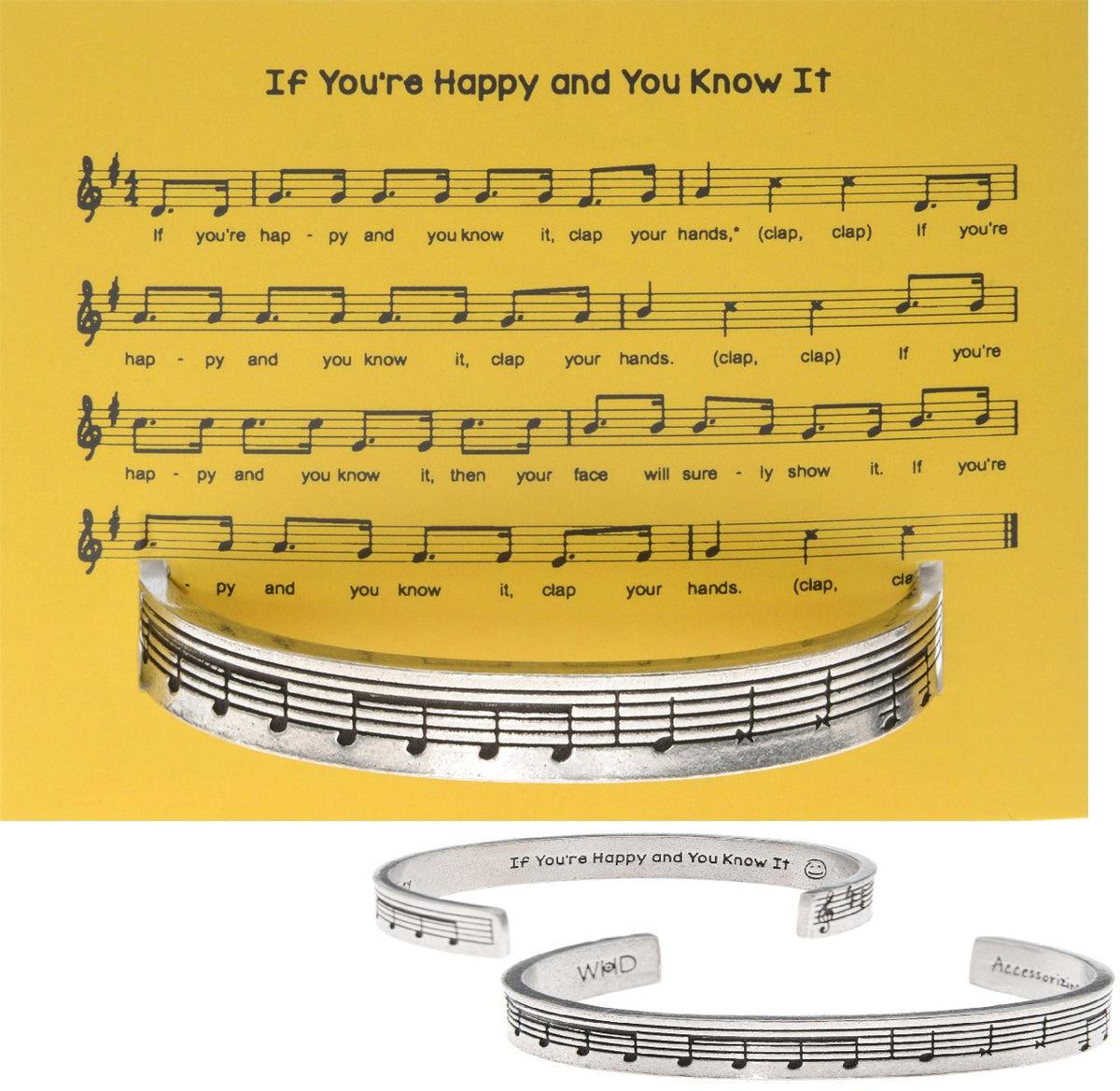 Happy and you know it Quotable Cuff - Whitney Howard Designs