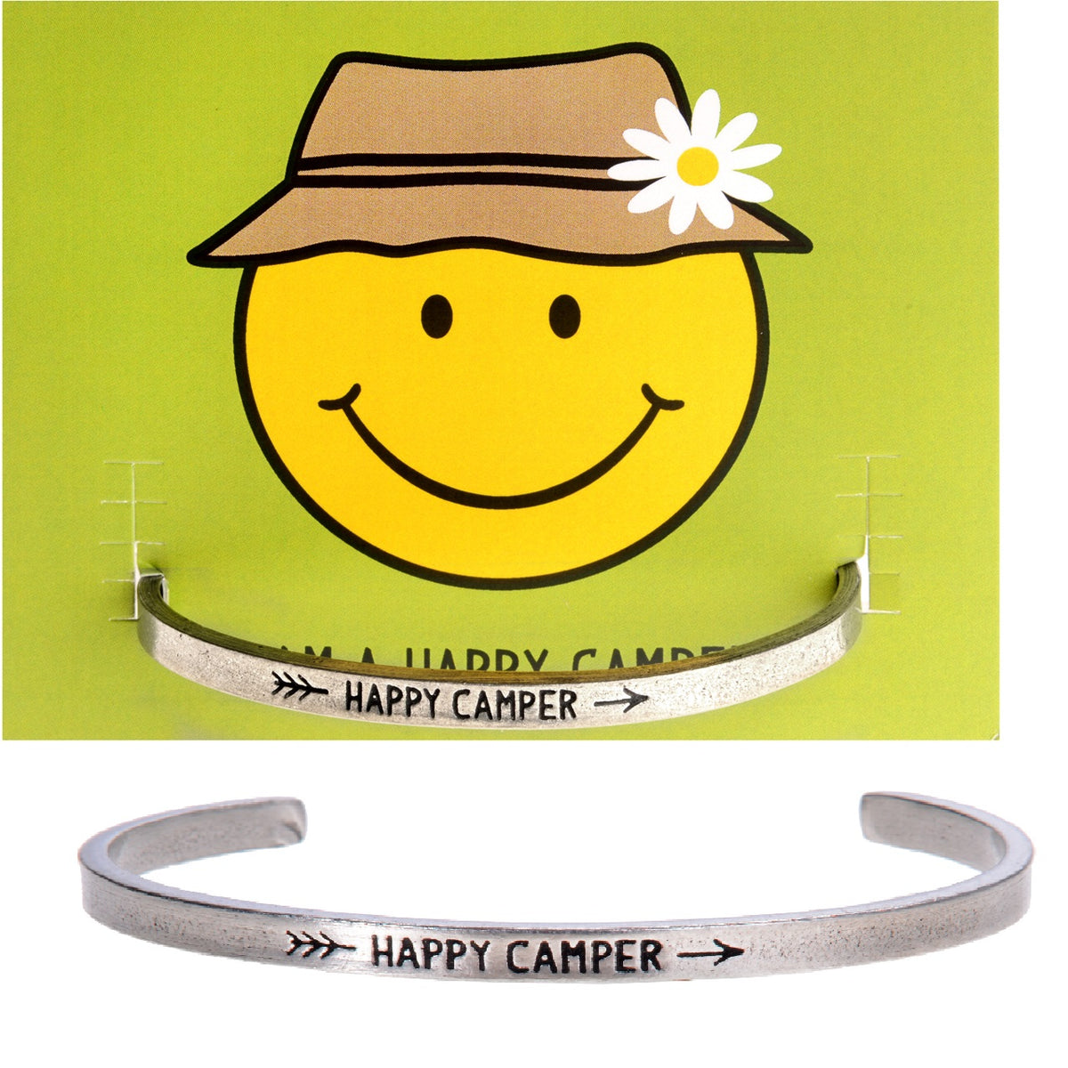 Happy Camper Quotable Cuff - Whitney Howard Designs