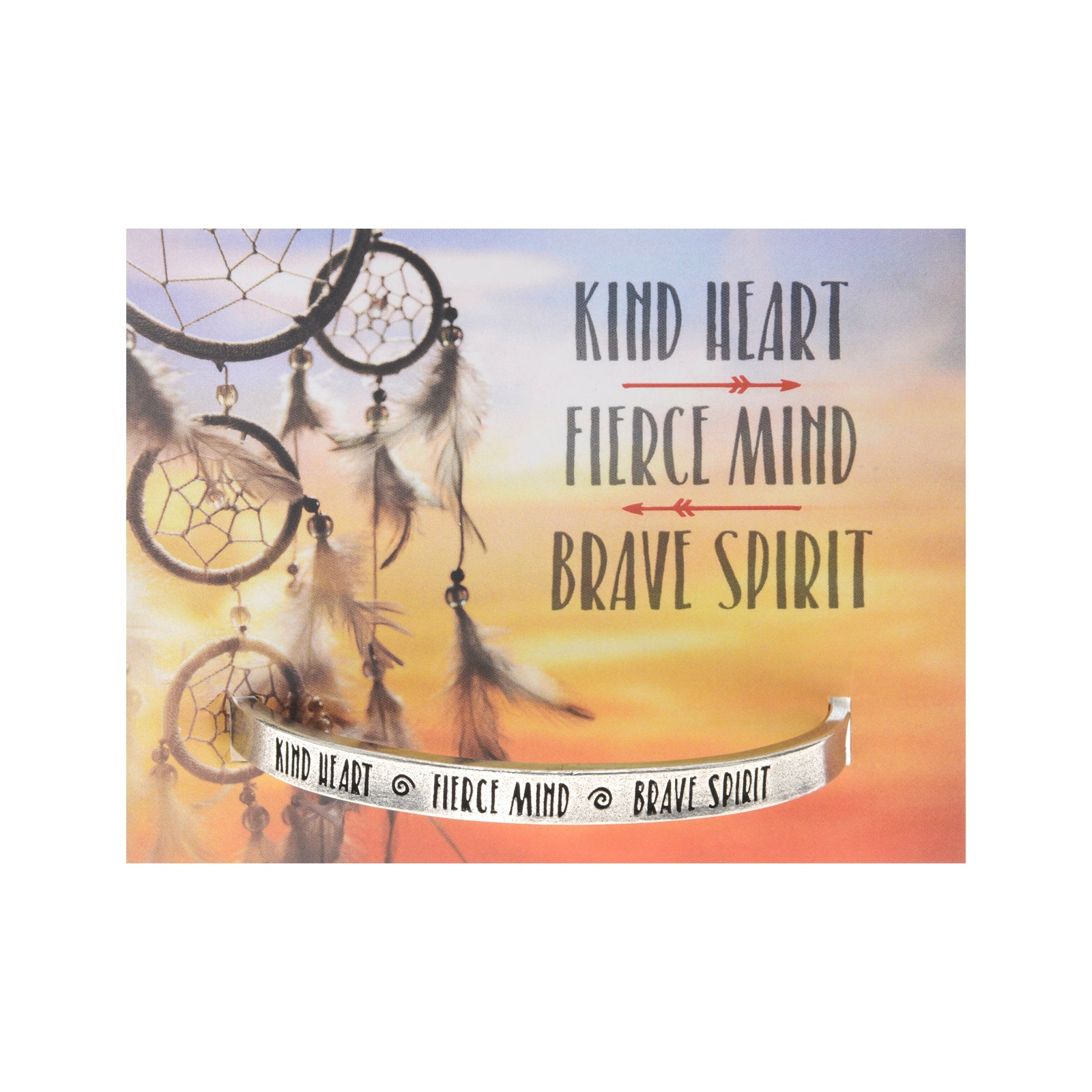 Kind Heart, Fierce Mind, Brave Spirit Quotable Cuff - Whitney Howard Designs