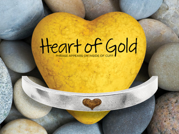 Heart of Gold Narrow Cuff Bracelet - Whitney Howard Designs