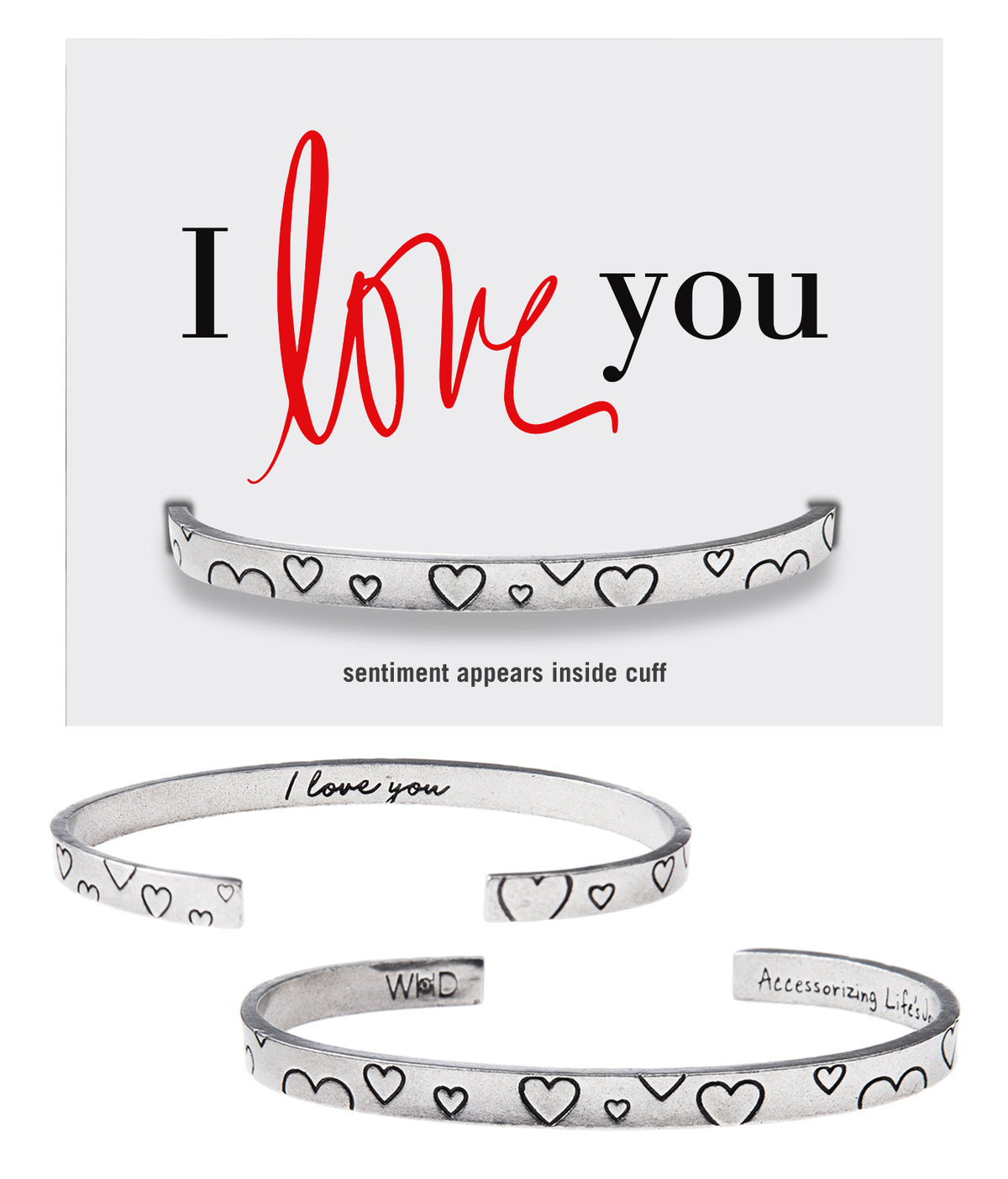 I Love You Quotable Cuff Bracelet