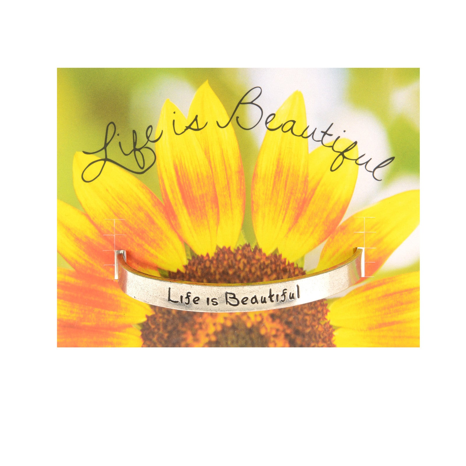 Life Is Beautiful Quotable Cuff Bracelet