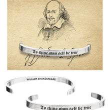 To Thine Own Self Be True Shakespeare Quotable Cuff Bracelet