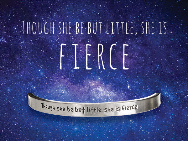 Though She Be Fierce Quotable Cuff - Whitney Howard Designs