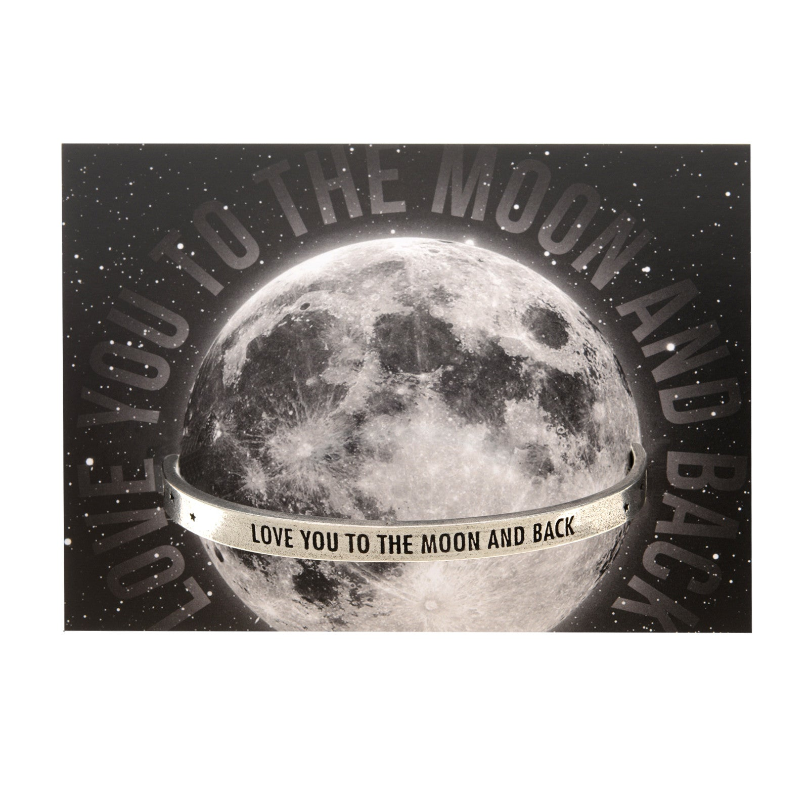 Love You to the Moon and Back - Perfect Gift for Mom or Wife, or Birthday Present for Daughter or  Best Friend by Quotable Cuffs - Whitney Howard Designs