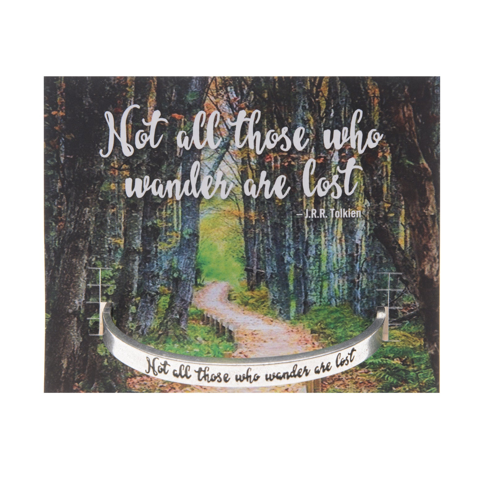 Not all those who wander are lost Quotable Cuff Bracelet - Whitney Howard Designs
