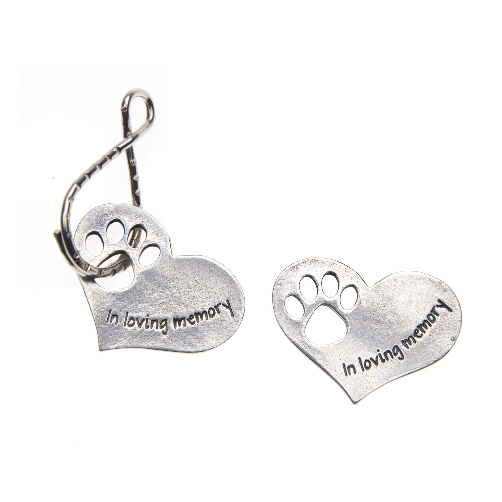 PET MEMORIAL HEART KEY RING - Whitney Howard Designs