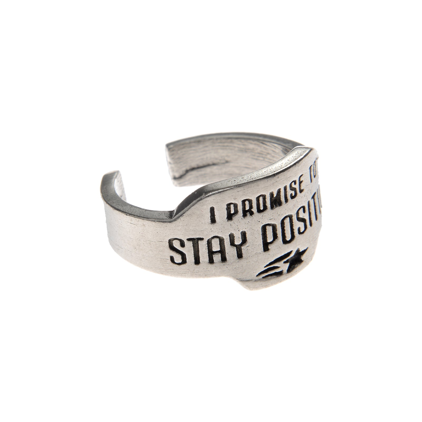 Stay Positive Promise Ring