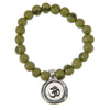 Tiger Olive Green Acai Seeds of Life Bracelet with Wax Seal - Whitney Howard Designs