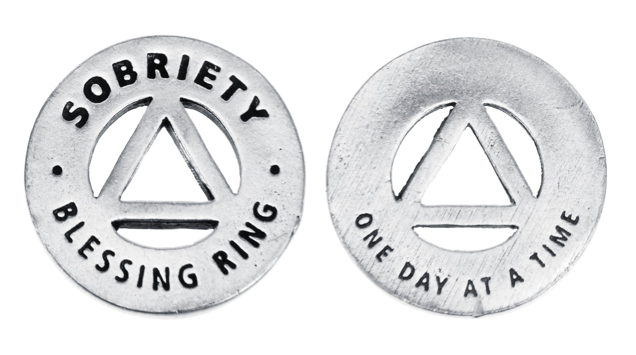 Sobriety Blessing Ring (on back - one day at a time) - Whitney Howard Designs