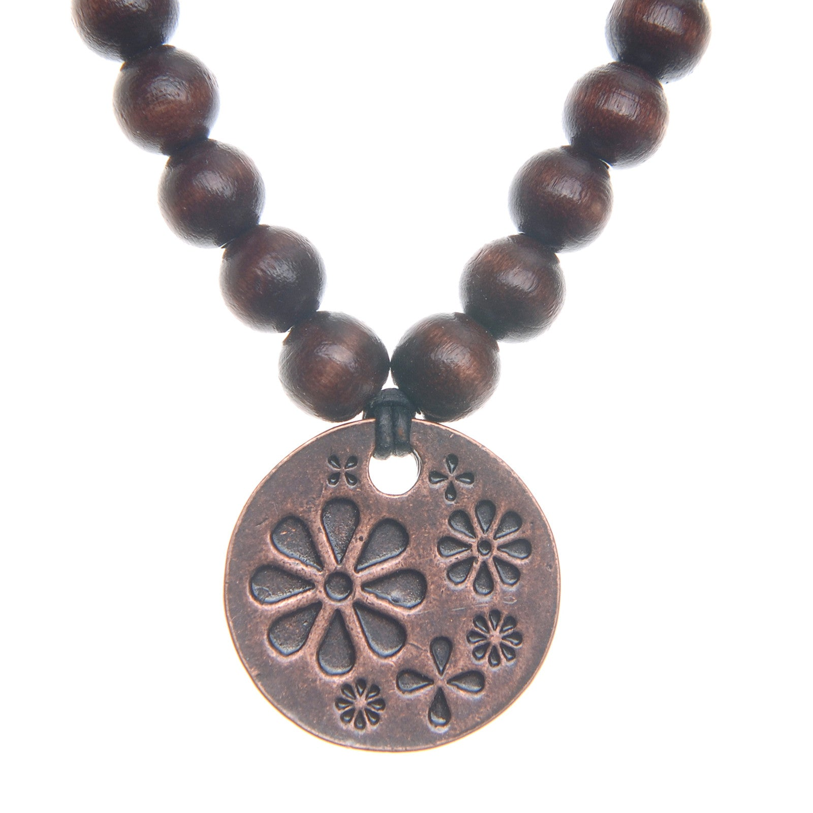 Spirals Wood Bead Necklace - Whitney Howard Designs