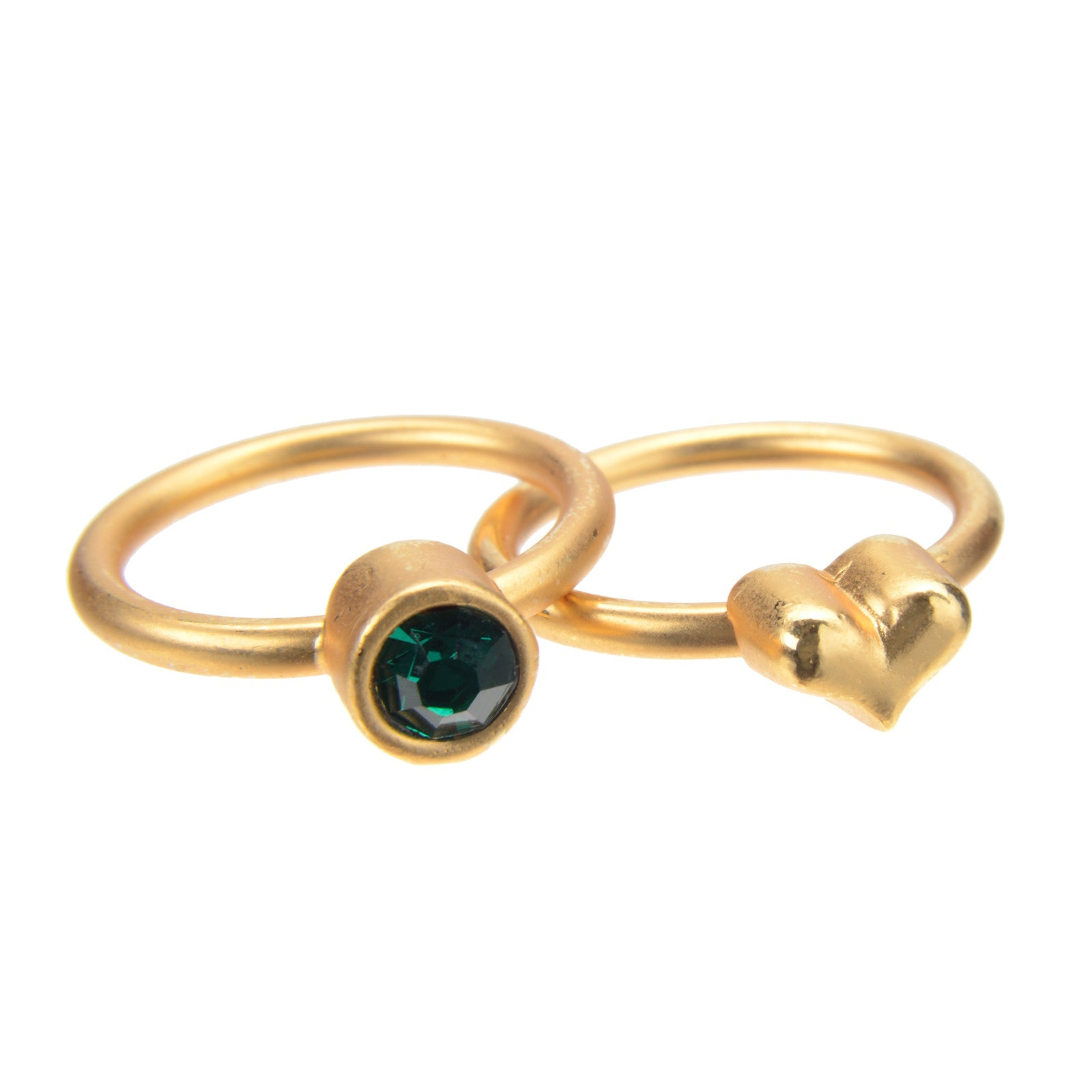 May Emerald Birthstone Ring Set - Whitney Howard Designs