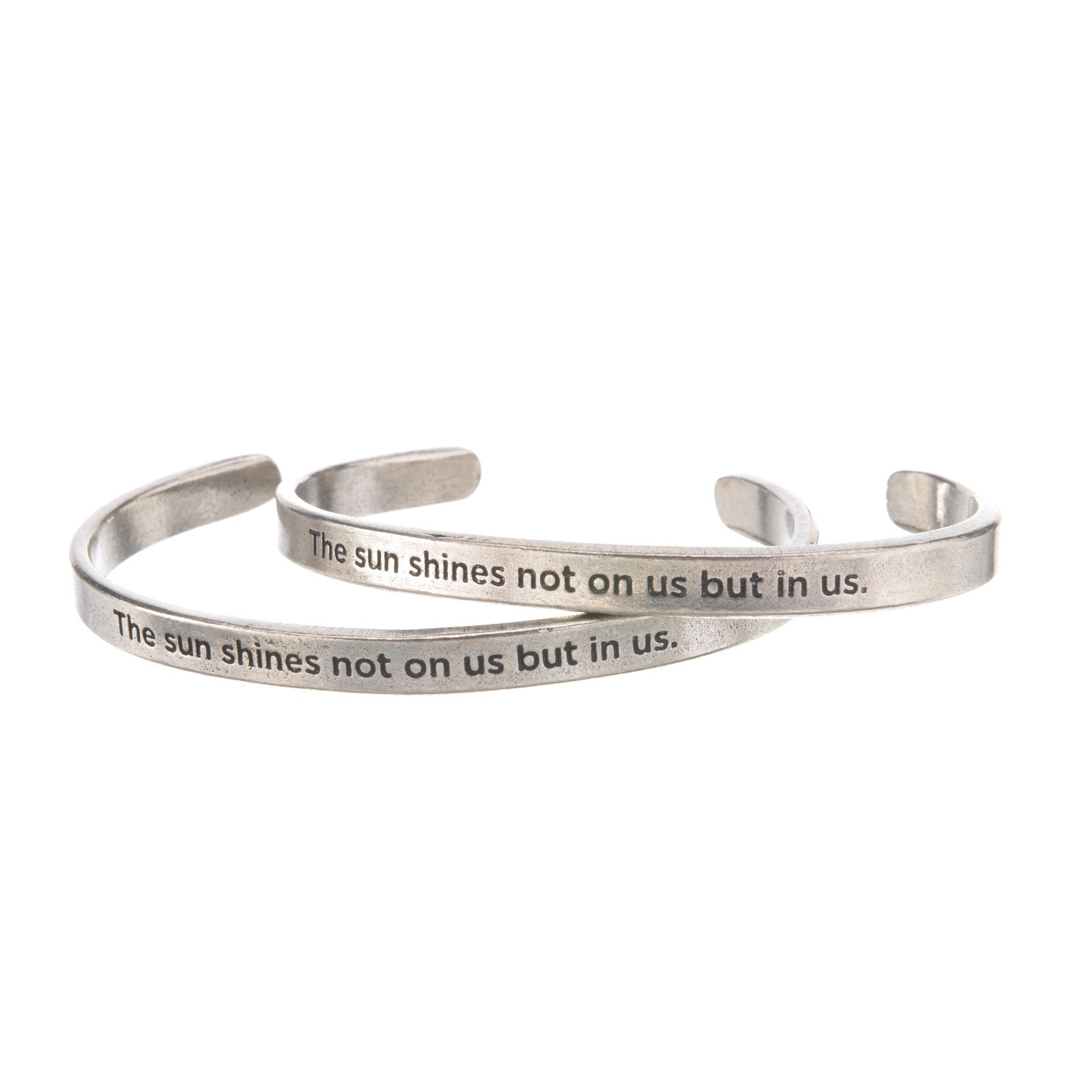 The Sun Shines Not On Us But In Us John Muir Quotable Cuff Bracelet - Whitney Howard Designs