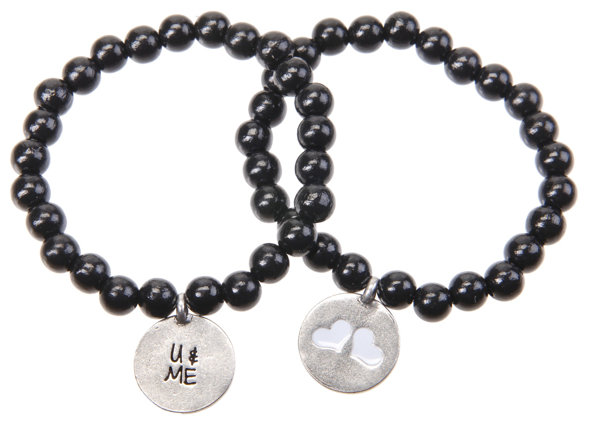 U & Me Wood Bead Bracelet - Whitney Howard Designs