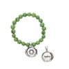 Acai Seeds of Life Bracelet with Wax Seal - Apple Green