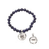 Acai Seeds of Life Bracelet with Wax Seal - Denim Blue