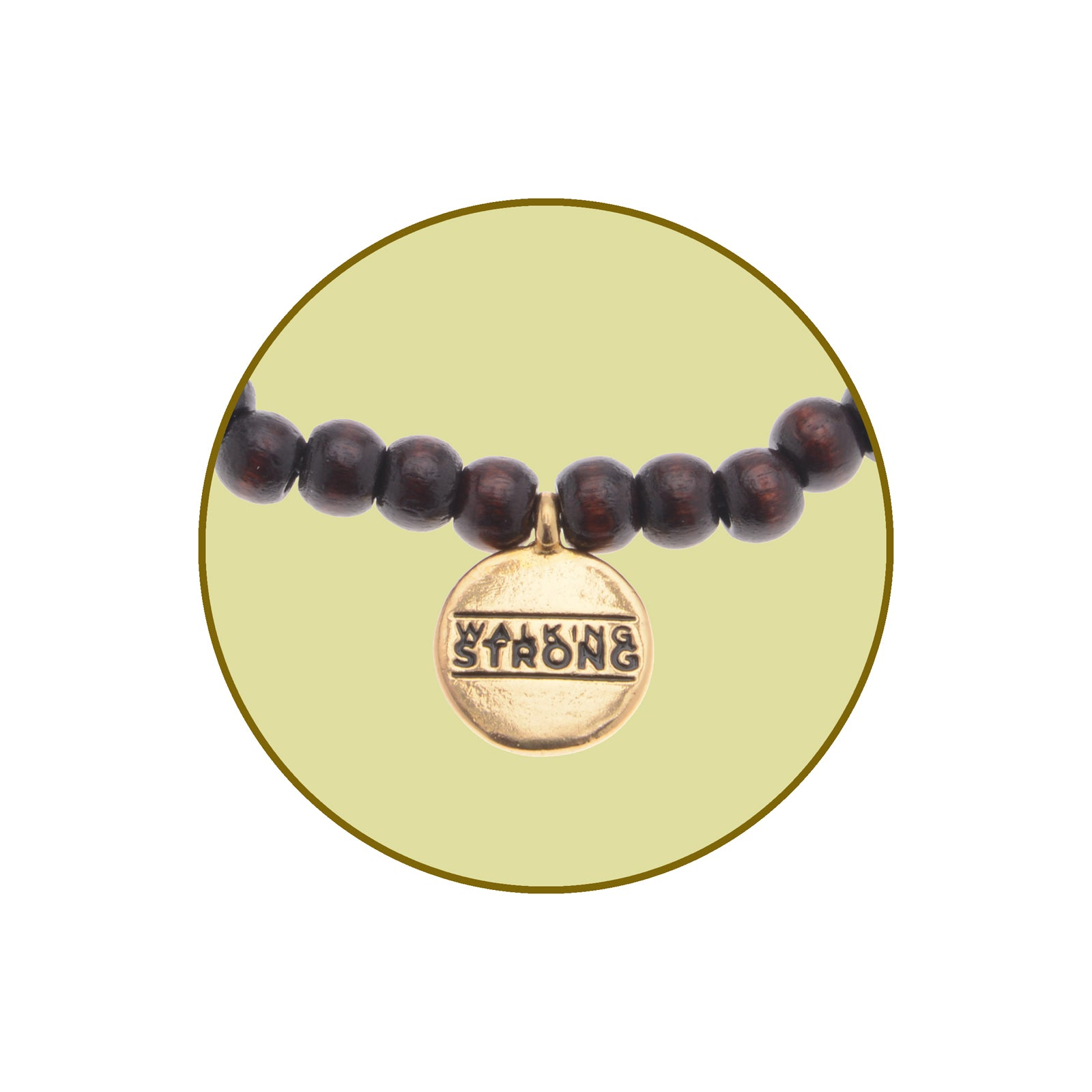 Walking Strong Bracelet - Small Black Wood Beads
