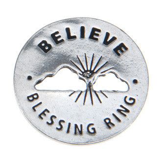 Believe Blessing Ring (on back - miracles happen) - Whitney Howard Designs