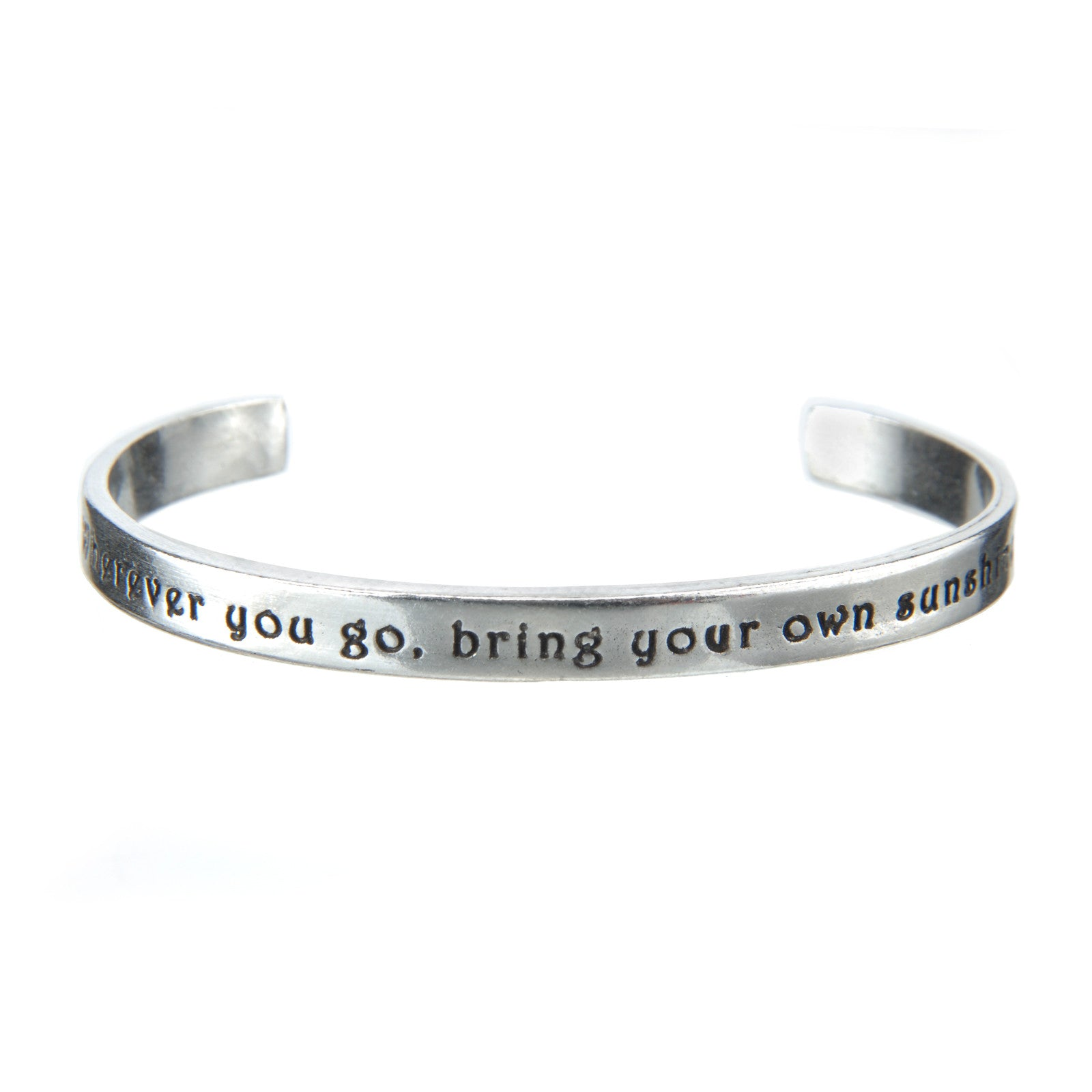 Wherever You Go Quotable Cuff Bracelet - Whitney Howard Designs