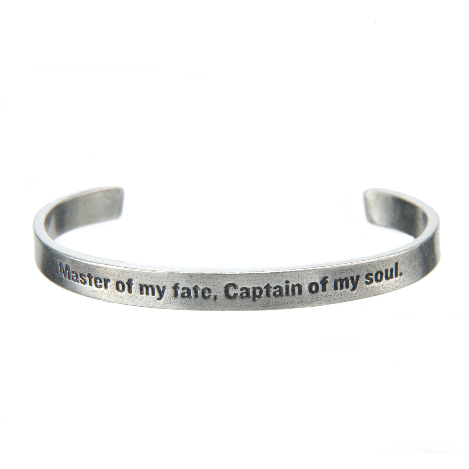 Master Of My Fate Quotable Cuff Bracelet - Whitney Howard Designs