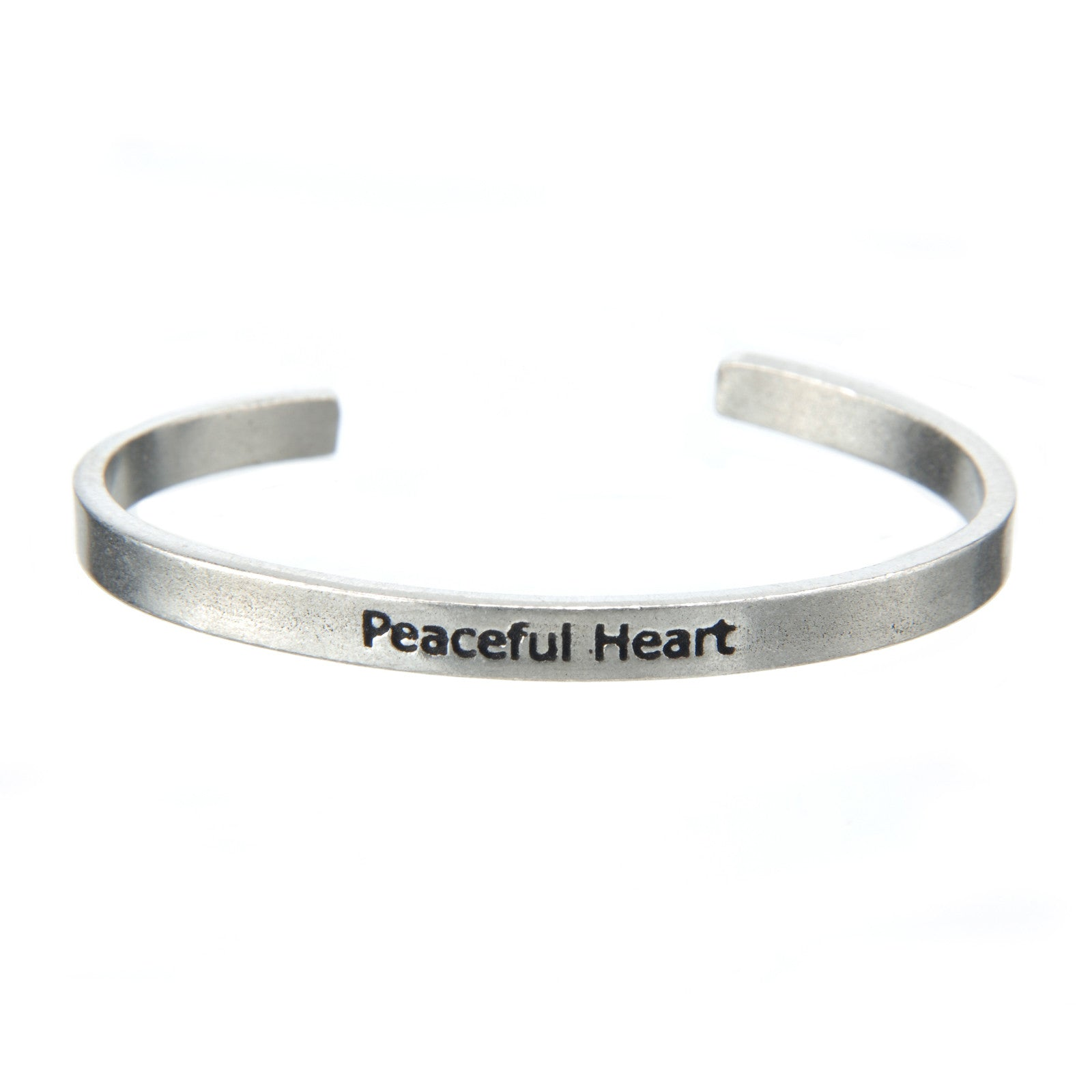 Peaceful Heart Quotable Cuff Bracelet - Whitney Howard Designs