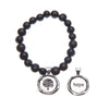 Black Acai Seeds of Life Bracelet with Wax Seal