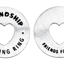 Friendship Blessing Ring Charm, Pewter, Handcrafted