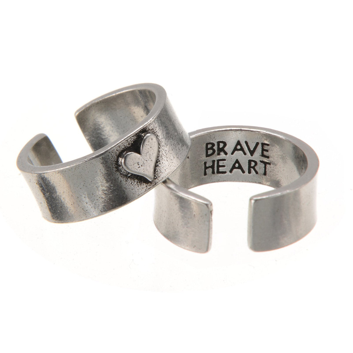 Hearts of Gold BRAVE HEART Ring