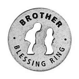 Brother Blessing Ring (on back - through the years, always there) - Whitney Howard Designs