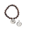 Chocolate Acai Seeds of Life Bracelet with Wax Seal