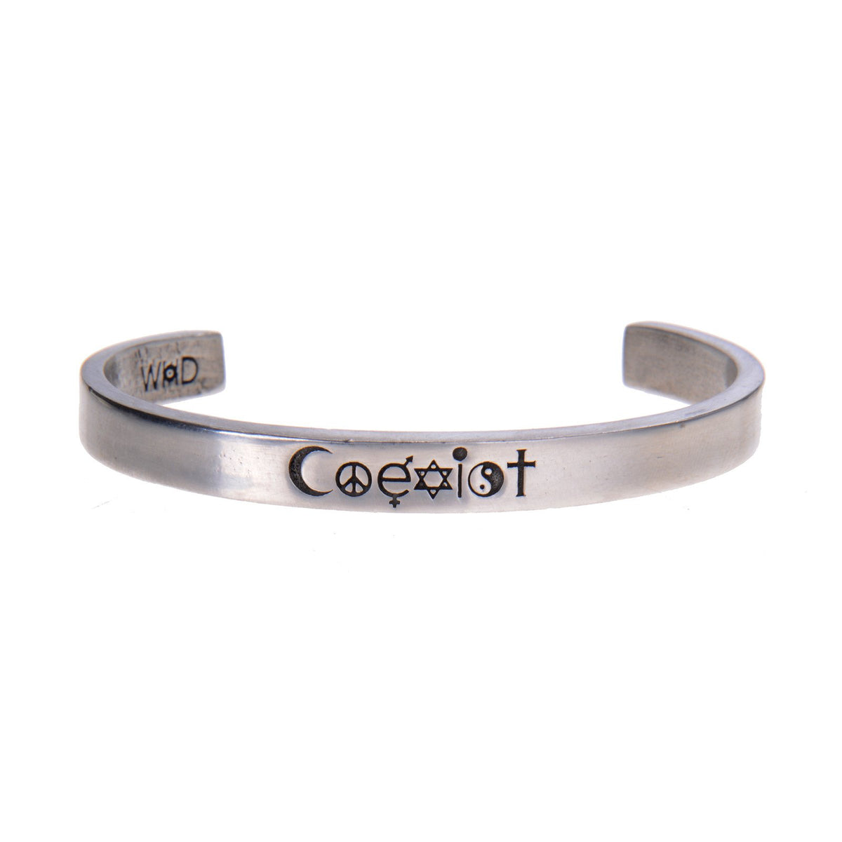 Coexist Quotable Cuff Bracelet