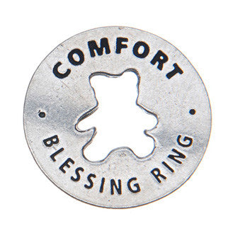 Comfort Blessing Ring (on back - always here for you)