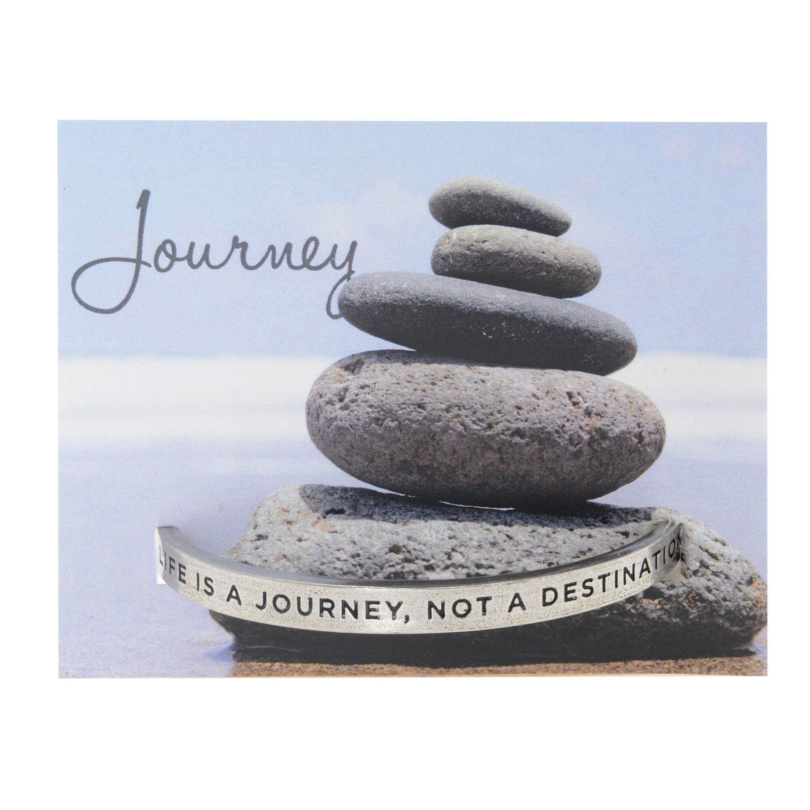 Life Is A Journey Quotable Cuff Bracelet