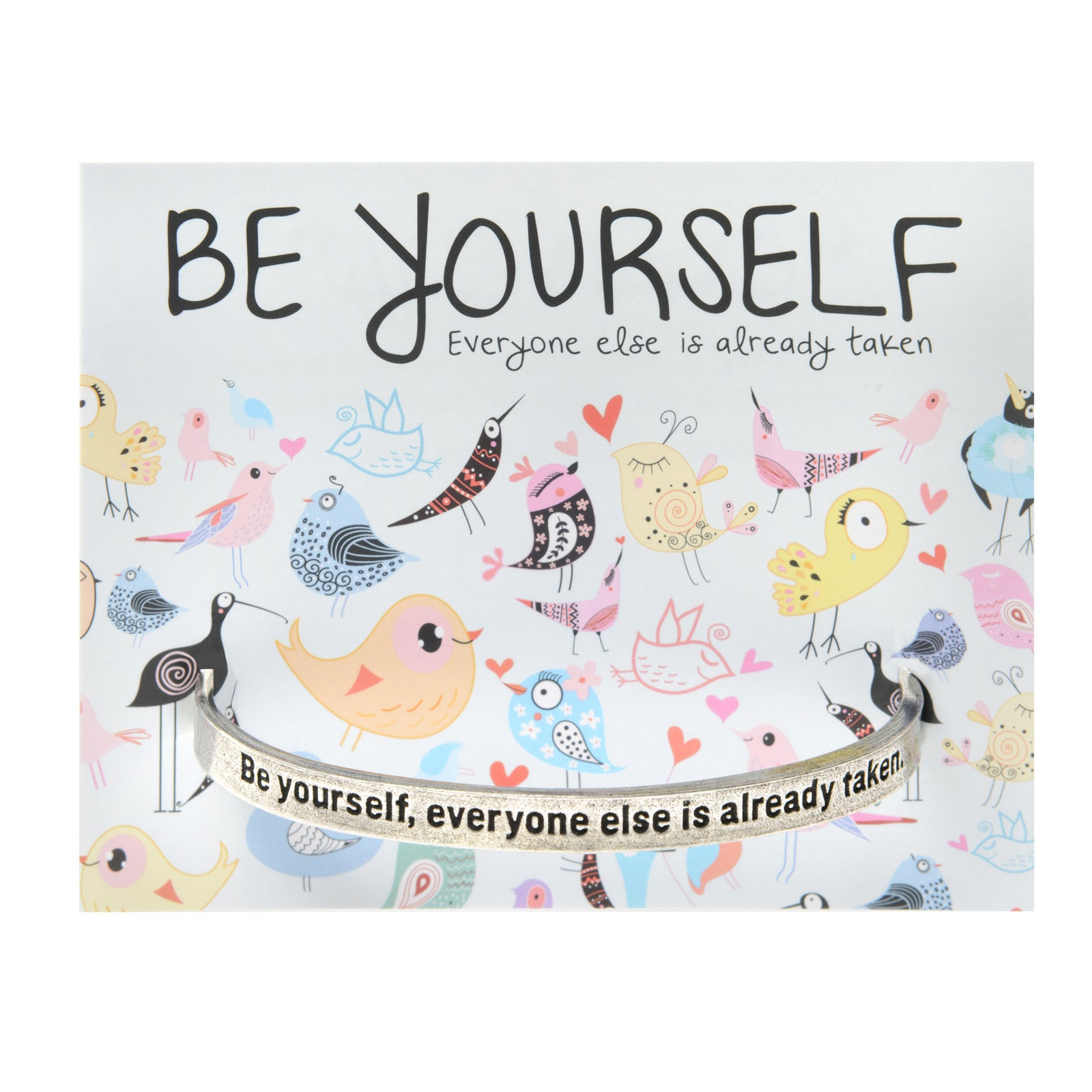 Be Yourself Quotable Cuff Bracelet