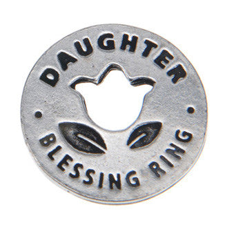 Daughter Blessing Ring (on back - a beautiful flower in the garden of life) - Whitney Howard Designs