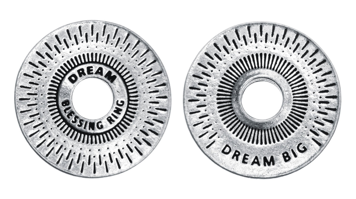 Dream Blessing Ring Charm, Pewter, Handcrafted