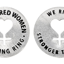 Empowered Women Blessing Ring Charm, Pewter, Handcrafted