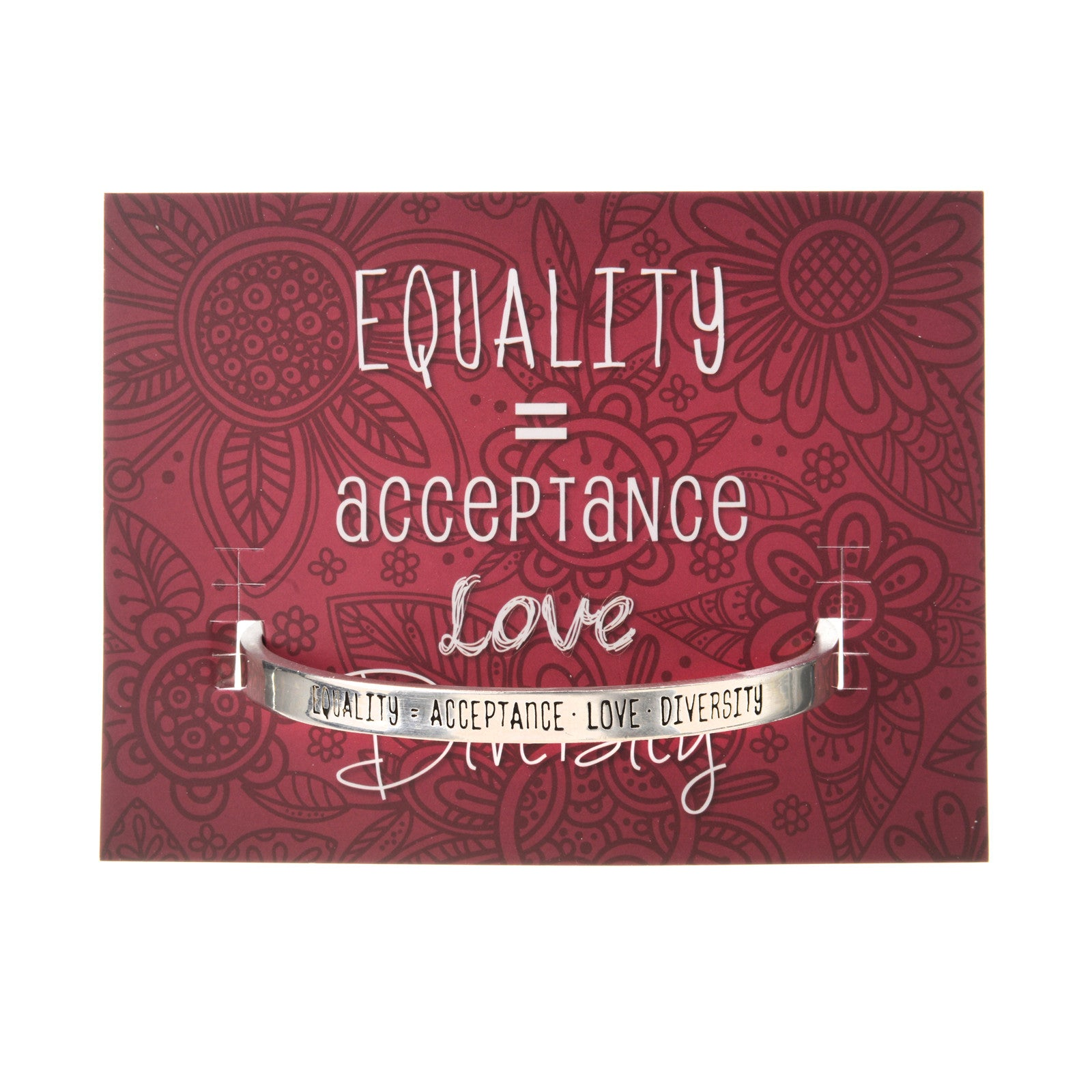 Equality = Acceptance, Love & Diversity Quotable Cuff Bracelet - Whitney Howard Designs