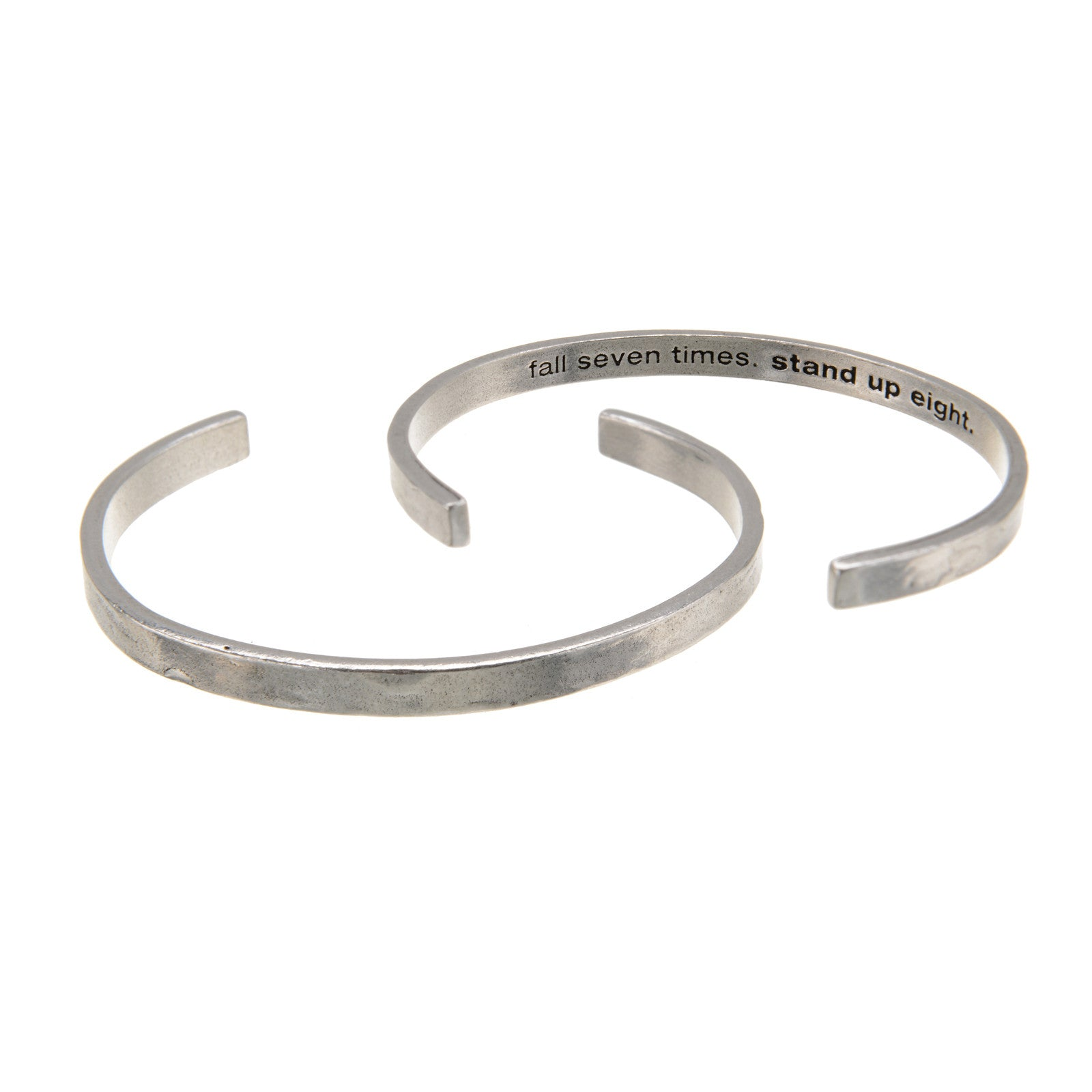Fall Seven Times, Stand Up Eight DUDE Cuff Bracelet - Whitney Howard Designs