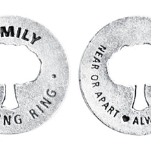 Family Blessing Ring Charm, Pewter, Handcrafted