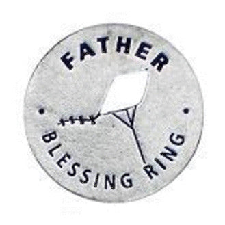 Father Blessing Ring (on back - guardian, brave and strong) - Whitney Howard Designs