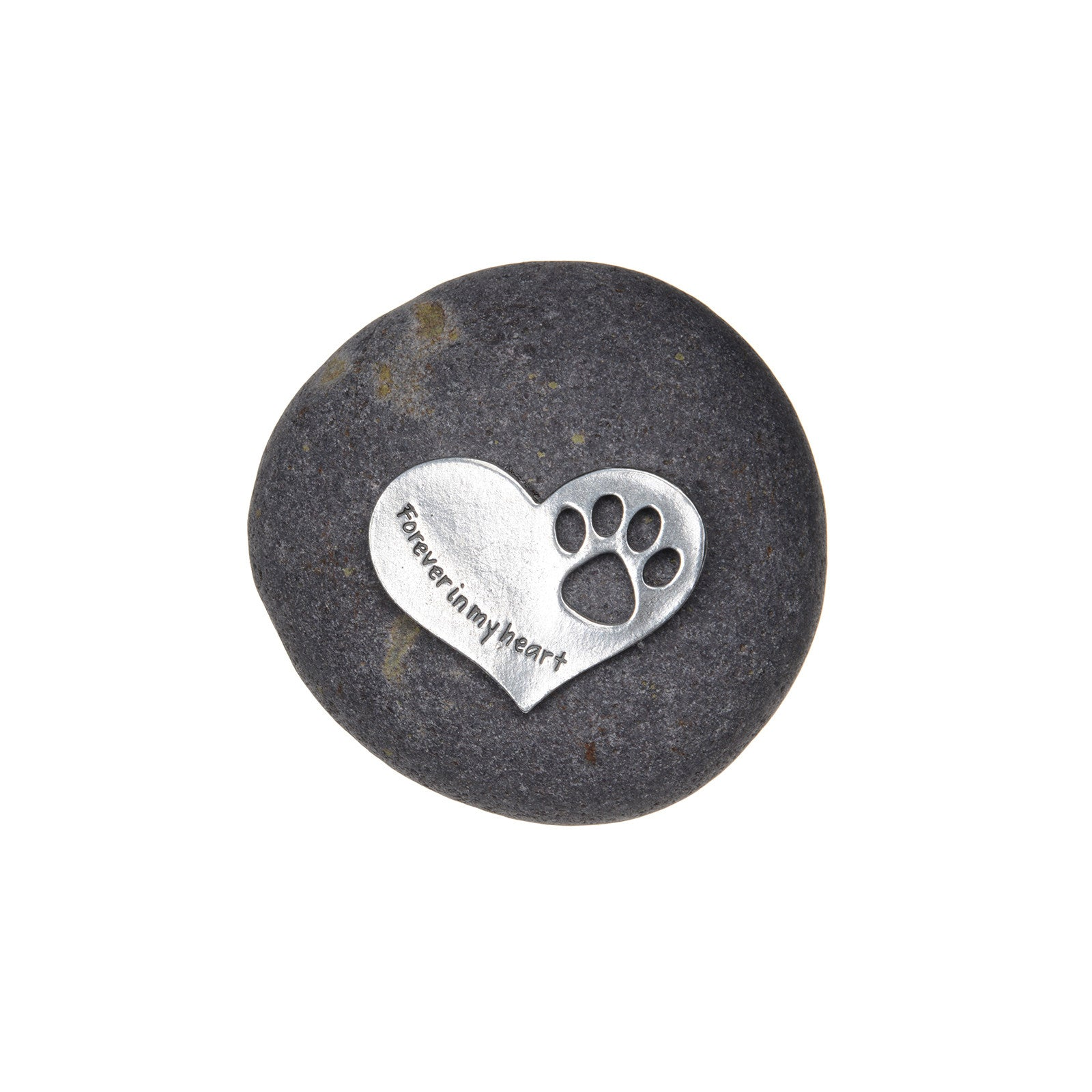 Pet Memorial Gift Forever in My Heart Paw Print Stone for Dogs or Cats - Sympathy Remembrance Gift by Whitney Howard Designs - Whitney Howard Designs
