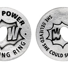 Girl Power Blessing Ring Charm, Pewter, Handcrafted