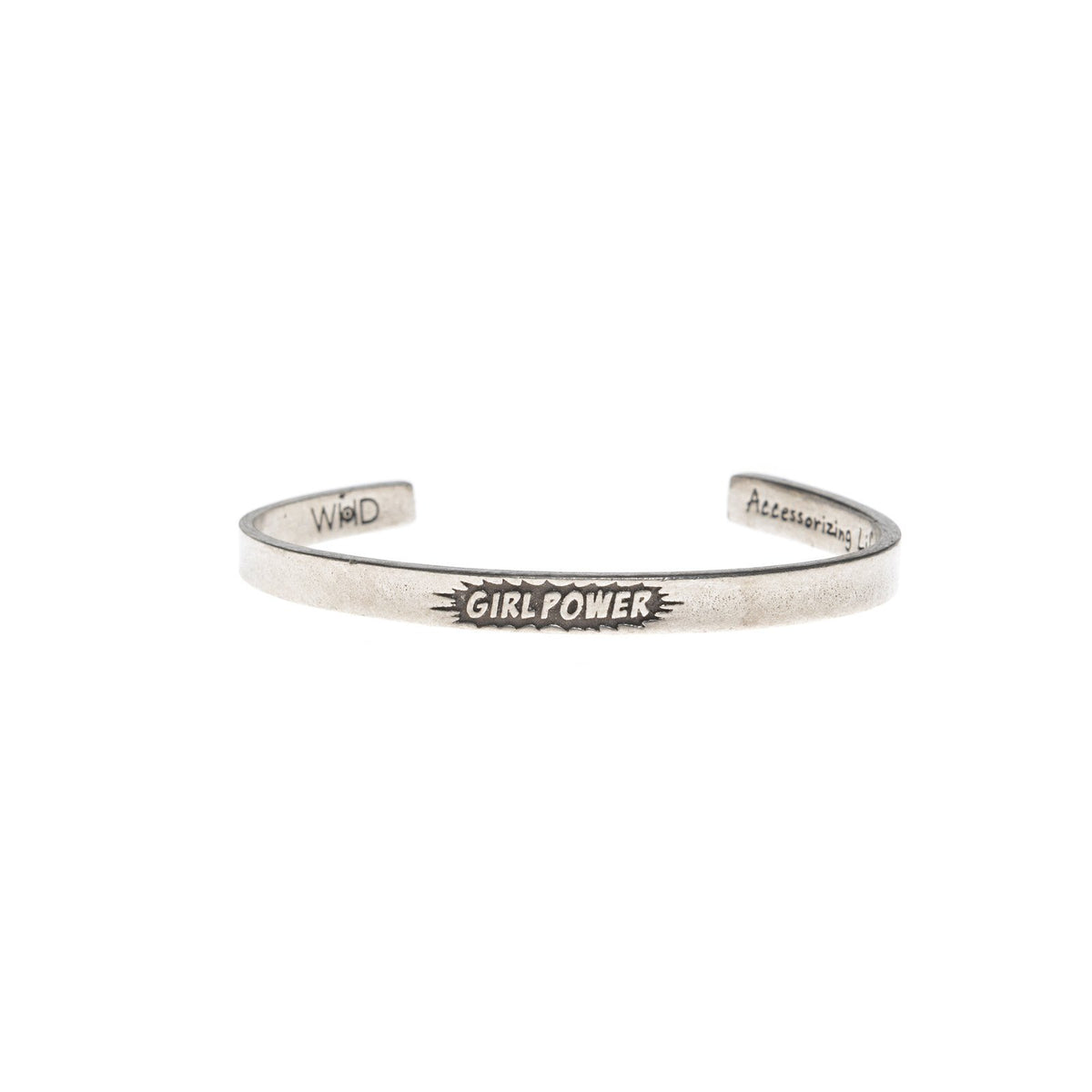 Girl Power Quotable Cuff Pewter Bracelet