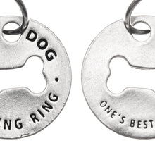 Good Dog Blessing Ring Charm, Pewter, Handcrafted