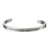 Attitude of Gratitude Quotable Cuff Bracelet