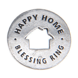 Happy Home Blessing Ring (on back - home is where the heart is) - Whitney Howard Designs